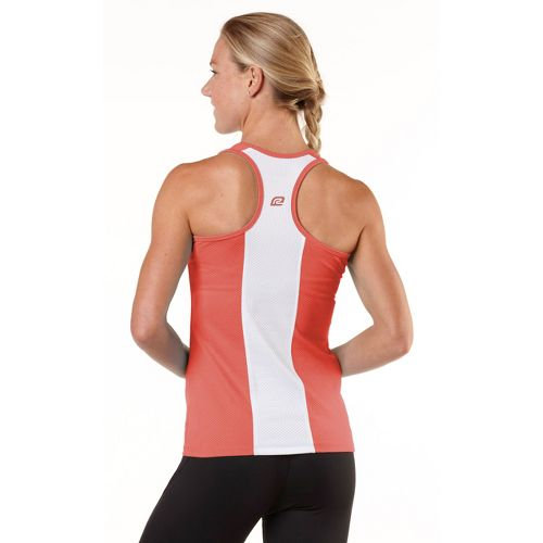 Womens R-Gear On Your Mark Tank Technical Tops - Just Peachy/White L