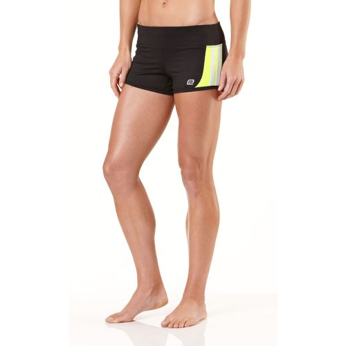 Womens R-Gear Runnin' Hot Fitted Shorts - Black/Citron/White XS