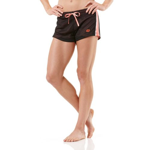 Womens R-Gear Off the Blocks Reversible Unlined Shorts - Black/Just Peachy/White XS