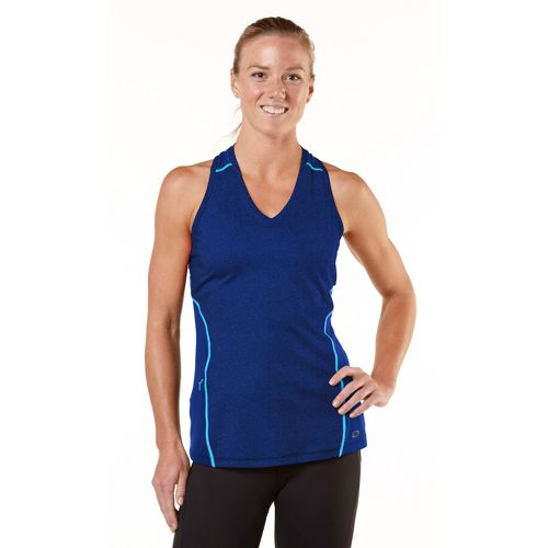 Womens R-Gear Keep Your Cool Singlet Technical Tops - Heather Bright Iris/Wave Blue L