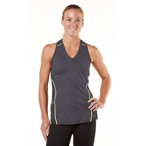 Womens R-Gear Keep Your Cool Singlet Technical Tops - Heather Charcoal/Citron S