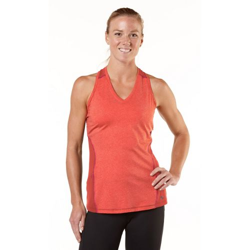 Womens R-Gear Keep Your Cool Singlet Technical Tops - Heather Just Peachy/Pink Berry XL