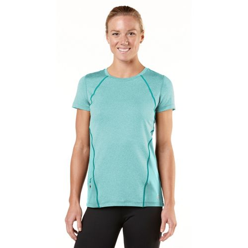 Womens R-Gear Keep Your Cool Short Sleeve Technical Tops - Heather Aqua Splash/Teal Appeal M ...