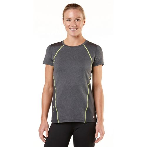 Womens R-Gear Keep Your Cool Short Sleeve Technical Tops - Heather Charcoal/Citron L