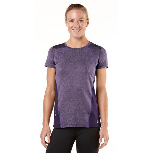 Womens R-Gear Keep Your Cool Short Sleeve Technical Tops - Heather Plum Pop/Love-Me Lavender M ...