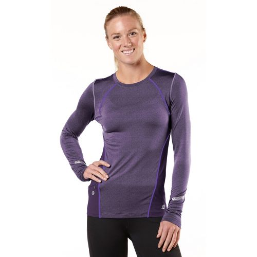 Womens R-Gear Keep Your Cool Long Sleeve No Zip Technical Tops - Heather Plum Pop/Love-Me ...