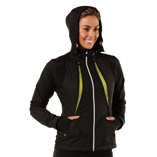 Womens R-Gear Zip To It Running Jackets - Black/Citron L