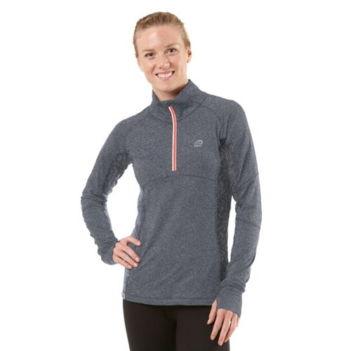 Womens ROAD RUNNER SPORTS Just a Pretty Lace Long Sleeve 1/2 Zip Technical Tops - ...