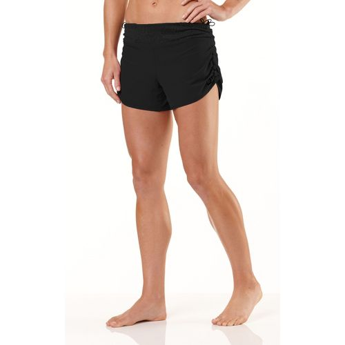 Womens R-Gear Get Lacy Reversible Fitted Shorts - Black/Black L
