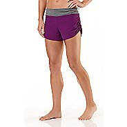 Womens R-Gear Get Lacy Reversible Fitted Shorts - Plum Crazy/Heather Charcoal M