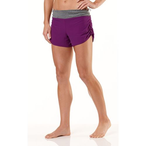 Womens R-Gear Get Lacy Reversible Fitted Shorts - Plum Crazy/Heather Charcoal XS
