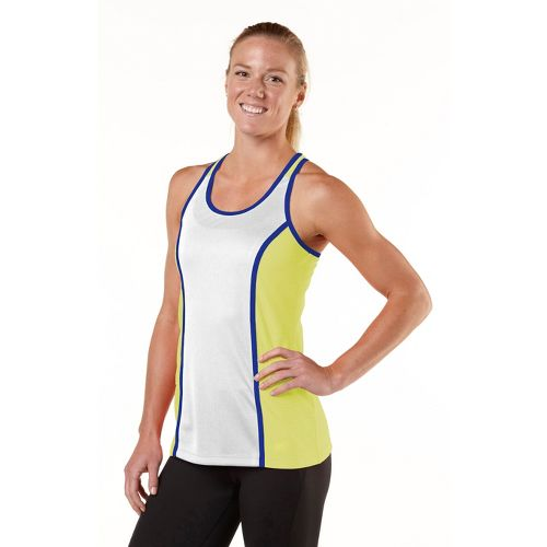 Womens R-Gear Finish Line Fast Singlet Technical Tops - Citron/White/Bright Iris S