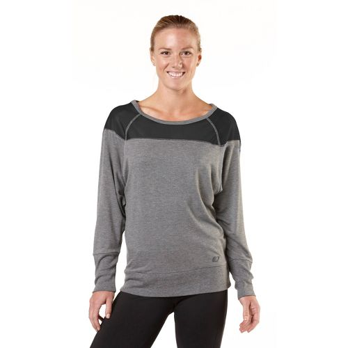Womens R-Gear One Track Mind Long Sleeve No Zip Technical Tops - Heather Grey L ...