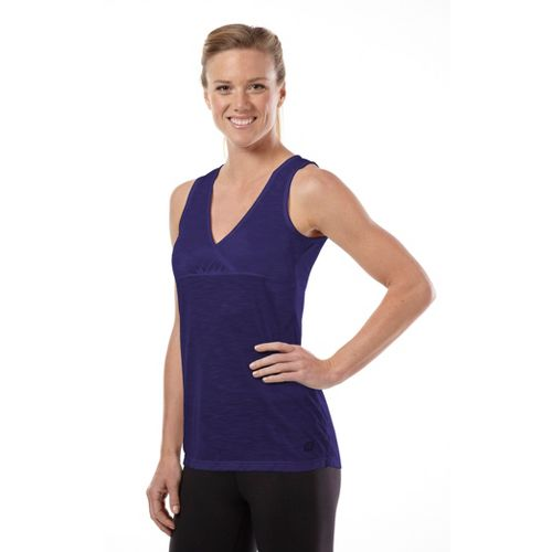 Womens Road Runner Sports Cross Paths Tank Technical Tops - Plum Pop XL