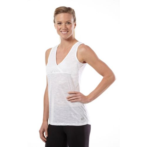 Womens Road Runner Sports Cross Paths Tank Technical Tops - White XS