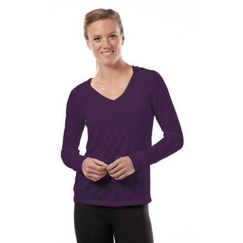 Womens Road Runner Sports Go With The Flow Hoodie Long Sleeve No Zip Technical Tops ...