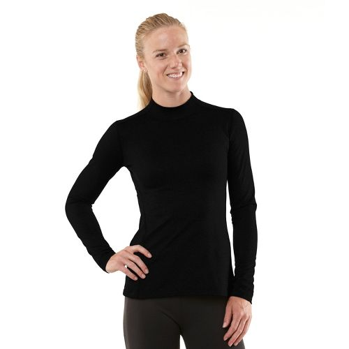 Womens R-Gear Your Second Skin Mock Long Sleeve No Zip Technical Tops - Black L ...