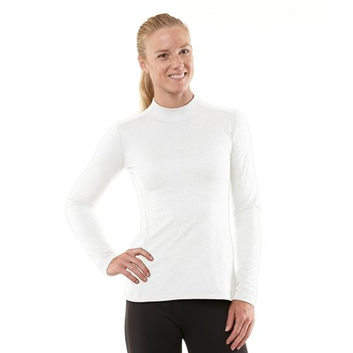 Womens R-Gear Your Second Skin Mock Long Sleeve No Zip Technical Tops - White M ...