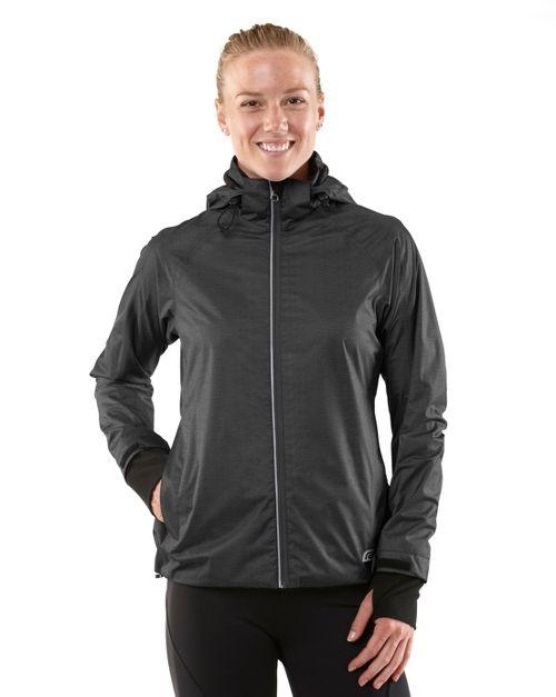 Womens R-Gear Taken By Storm Rain Outerwear Jackets - Heather Charcoal S