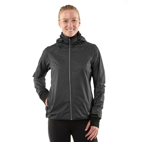 Womens R-Gear Taken By Storm Rain Outerwear Jackets - Heather Charcoal L