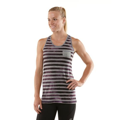 Womens R-Gear Stripe A Pose Tank Technical Tops - Love-Me Lavender XL