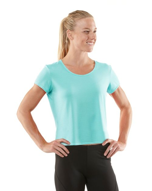 Womens R-Gear Your Fine Print Short Sleeve Technical Tops - Aqua Splash M