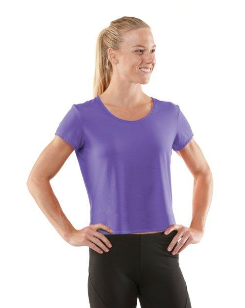 Womens R-Gear Your Fine Print Short Sleeve Technical Tops - Love-Me Lavender L