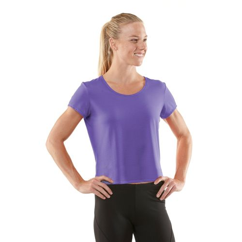 Womens R-Gear Your Fine Print Short Sleeve Technical Tops - Love-Me Lavender S