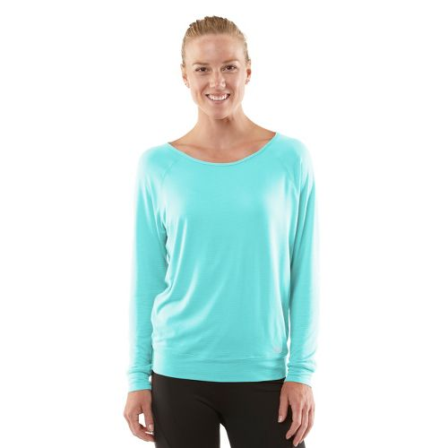 Womens ROAD RUNNER SPORTS Your Fine Print Long Sleeve No Zip Technical Tops - Aqua ...