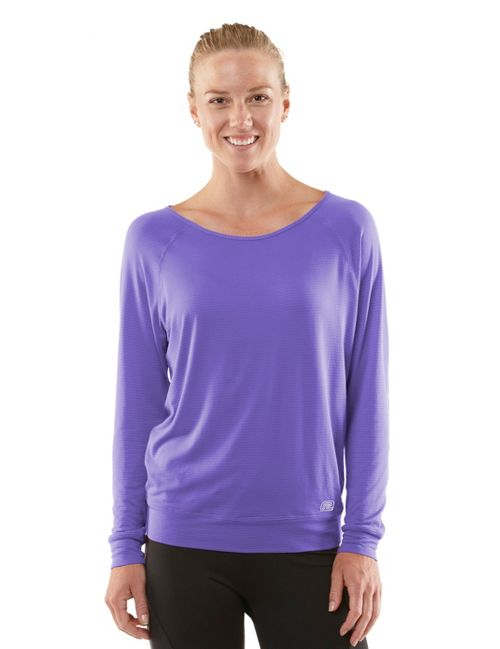 Womens ROAD RUNNER SPORTS Your Fine Print Long Sleeve No Zip Technical Tops - Love-Me Lavender XL