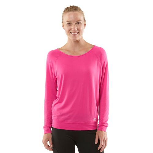 Womens ROAD RUNNER SPORTS Your Fine Print Long Sleeve No Zip Technical Tops - Passion ...