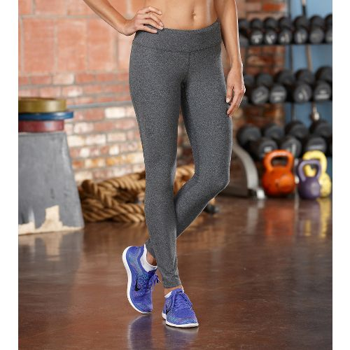 Womens ROAD RUNNER SPORTS Leg Up Legging Full Length Pants - Heather Charcoal L