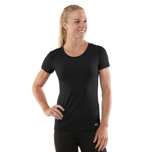 Womens R-Gear Runner's High Short Sleeve Technical Tops - Black/Just Peachy S