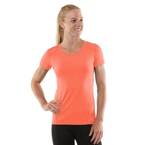 Womens R-Gear Runner's High Short Sleeve Technical Tops - Just Peachy/Tickled Pink L