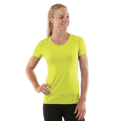 Womens R-Gear Runner's High Short Sleeve Technical Tops - Limeade/Passion Punch M