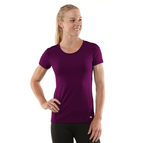 Womens R-Gear Runner's High Short Sleeve Technical Tops - Mulberry Madness/Passion Punch XL