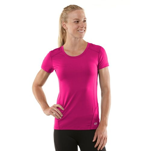 Womens R-Gear Runner's High Short Sleeve Technical Tops - Passion Punch/Firefly Red XL