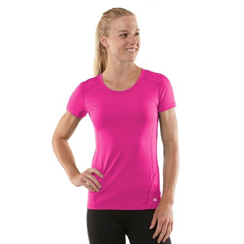 Womens R-Gear Runner's High Short Sleeve Technical Tops - Passion Punch/Mulberry Madness L