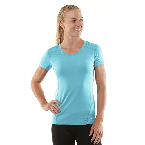 Womens R-Gear Runner's High Short Sleeve Technical Tops - Sea Breeze/Passion Punch XS