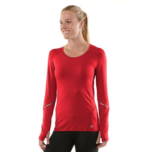 Womens R-Gear Runner's High Long Sleeve No Zip Technical Tops - Firefly Red/Passion Punch L ...