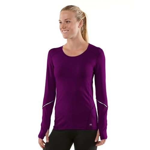 Womens R-Gear Runner's High Long Sleeve No Zip Technical Tops - Mulberry Madness/Passion Punch ...