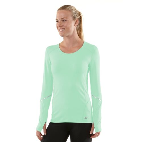 Womens R-Gear Runner's High Long Sleeve No Zip Technical Tops - Mintify/Just Peachy L