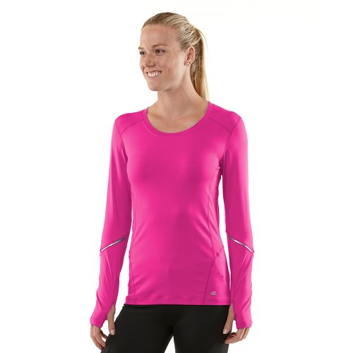Womens R-Gear Runner's High Long Sleeve No Zip Technical Tops - Passion Punch/Mulberry Madness ...