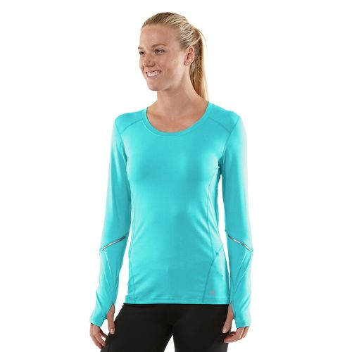 Womens R-Gear Runner's High Long Sleeve No Zip Technical Tops - Sea Breeze/Passion Punch XL ...
