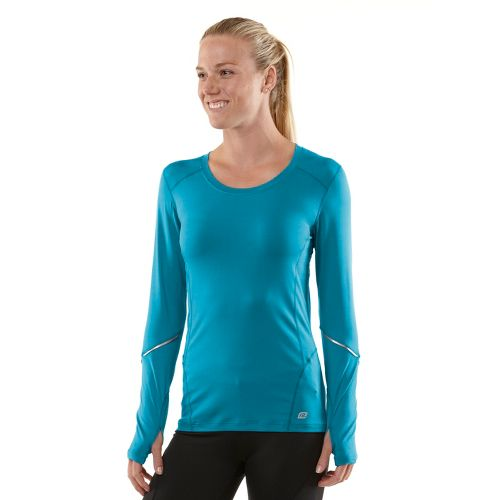 Womens R-Gear Runner's High Long Sleeve No Zip Technical Tops - Teal Appeal/Passion Punch S ...