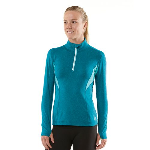 Womens R-Gear On The Run Long Sleeve 1/2 Zip Technical Tops - Heather Teal Appeal/Aqua ...