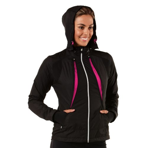 Womens R-Gear Zip To It Running Jackets - Black/Passion Punch XL