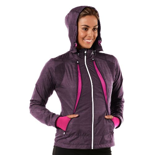 Womens R-Gear Zip To It Running Jackets - Heather Mulberry Madness/Passion Punch XL