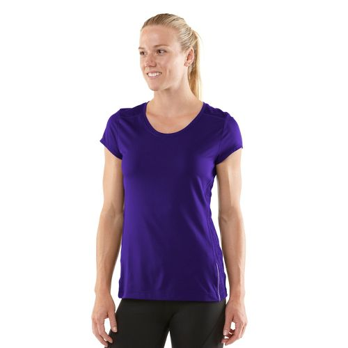 Womens R-Gear Amaze In Lace Short Sleeve Technical Tops - Plum Pop S