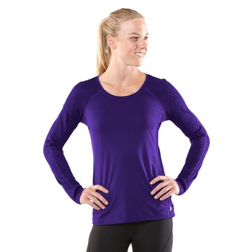 Womens R-Gear Amaze In Lace Long Sleeve No Zip Technical Tops - Plum Pop M ...